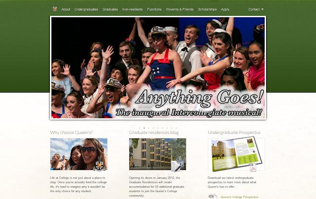 *排版及內容豐富的學院官方網站|Queen's College Web Site 2