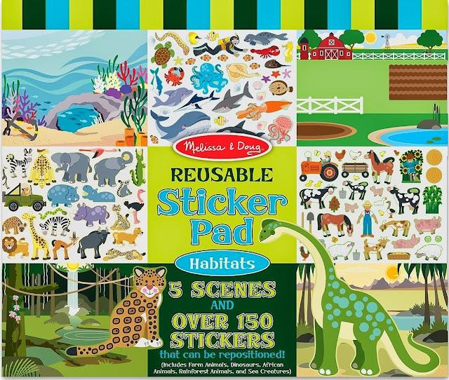 Sách sticker Thế giới động vật ME4196 với các khung cảnh trống cho bé tha hồ sáng tạo