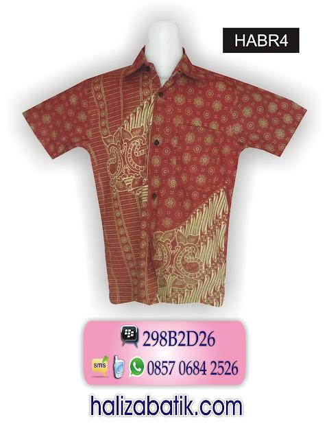 baju batik pria, atasan batik, baju batik atasan, HABR4