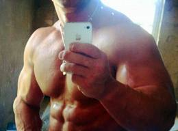 Muscular Jocks's Sexy Self Shot by Smartphone