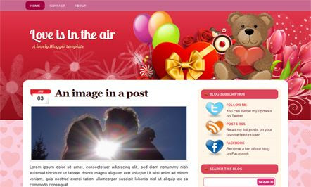 PLove Is In The Air template blogger