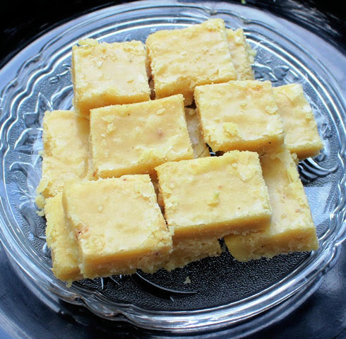 7 cup Barfi Recipe | Seven Star Burfi Sweet Cake - Indian Desserts