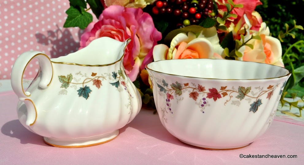 Canterbury pattern sugar and creamer