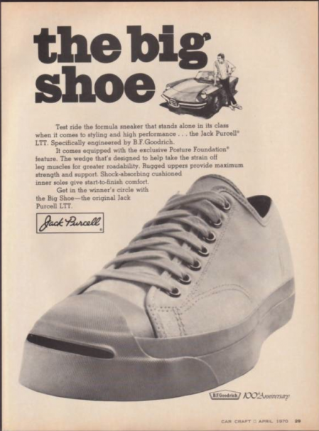 48f55d96ae5716 Unofficial Jack Purcell  BF Goodrich Jack Purcell - Advertising