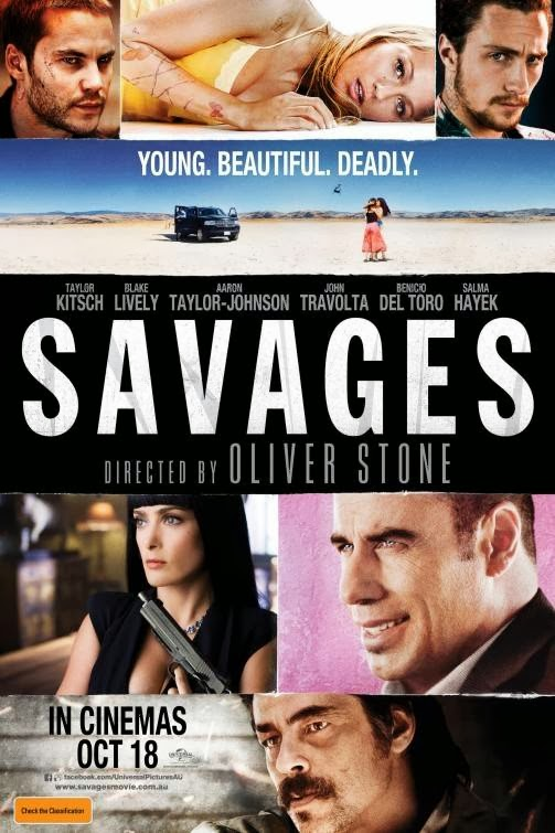 Poster Of Savages (2012) Full Movie Hindi Dubbed Free Download Watch Online At Alldownloads4u.Com