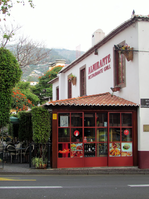 a typical restaurant in Funchal old town