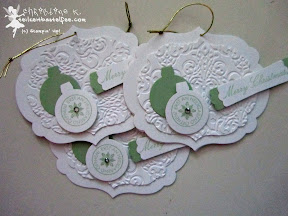 stampin up, case a christmas card, ornament keepsakes, christbaumschmuck, come to bethlehem, wunderbare weihnachtsgrüße
