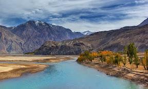 Shyok River, Ghangche, Gilgit Baltistan, Pakistan
