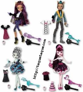 Monster High - Novedades para 2012: colección Sweet 1600 formada por Draculaura, Clawd Wolf, Frankie y Clawdeen