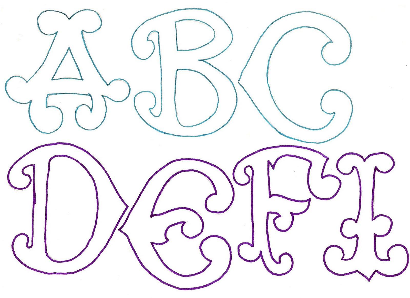 Alefers taller creativo alfabeto para banner - Formas de letras para decorar ...