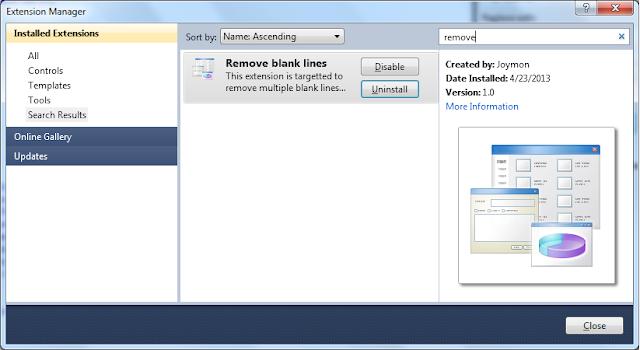 Joymon V/S Code: My VS 2010 Extension to remove duplicate