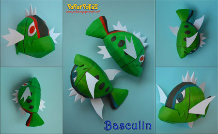Pokemon Basculin Papercraft