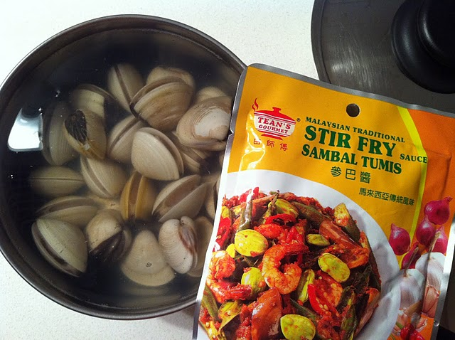 730 Days of My Life: Gin's Kitchen - Stir-fried Pippies in Sambal Tumis