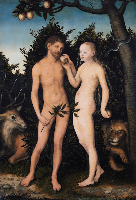 Lucas Cranach the Elder - Adam und Eva im Paradies (Sündenfall) - Google Art Project.