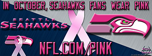 Seahawks Breast Cancer Awareness Pink Facebook Cover Photo