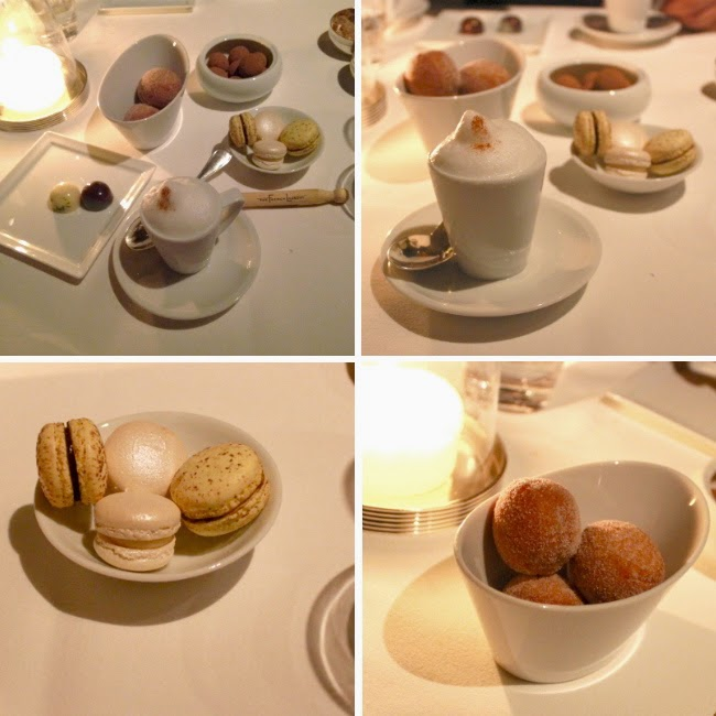 coffee doughnuts macarons nuts chocolate french laundry