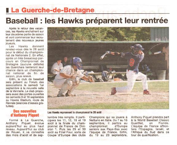 Le Journal de Vitré, 10 aout 2012