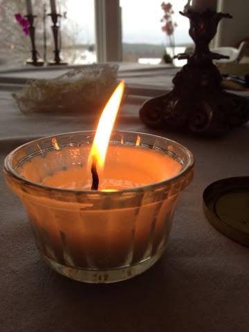 Egengjorda ljus, ljuskopp, ljus, doftljus