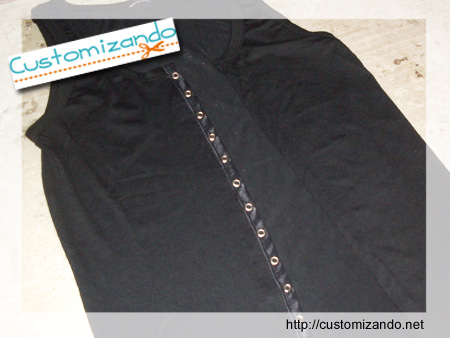 Customizando - transformando camiseta regata em colete