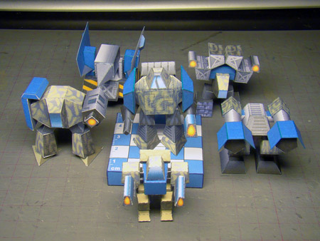 Arm Kbots Paper Toy