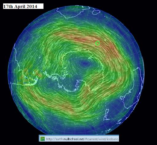 17TH APRIL 2014  Antartic wind streams