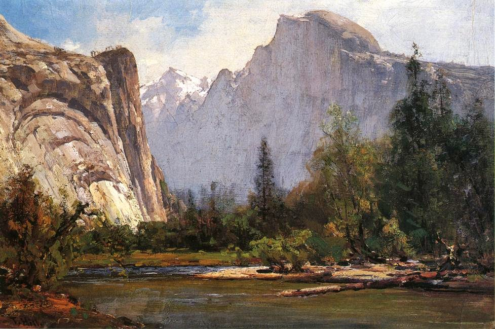 Thomas Hill - Royal Arches And Half Dome Yosemite