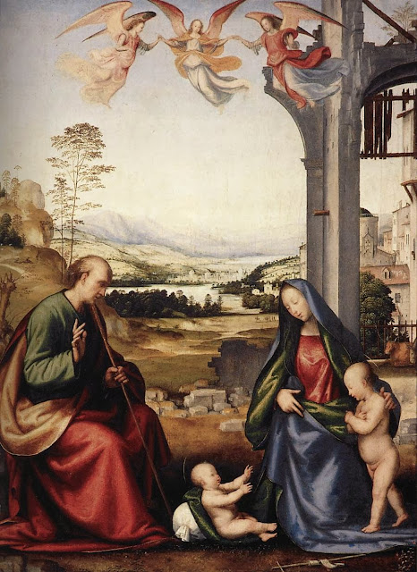 Fra Bartolomeo - The Holy Family with St John the Baptist