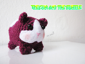 Amigurumi Guinea Pig by the sun and the turtle