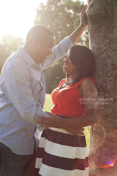 Backlit photo of couple for anniversary