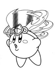 Kirby with Headdress Coloring Page