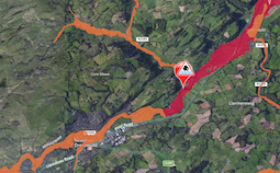 Flood warnings issued around Newtown