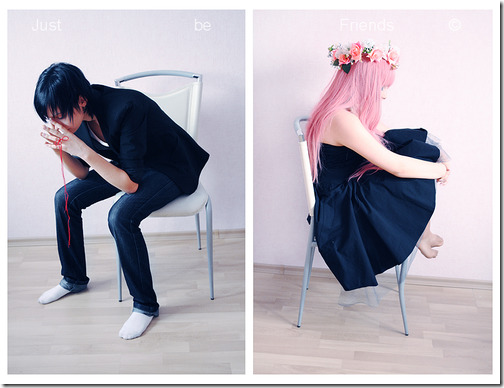 vocaloid 2 cosplay - hiyama kiyoteru and megurine luka