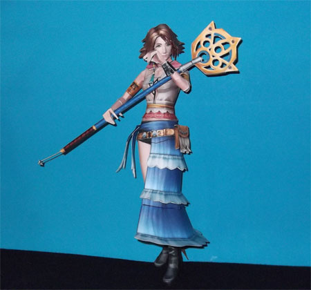 Gunner Dressphere Yuna Papercraft