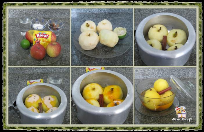 Compota de maçã com calda de chocolate 3