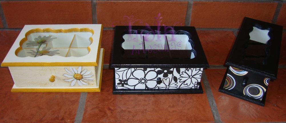 Cajas de Té Con Cajon de 6 y 3