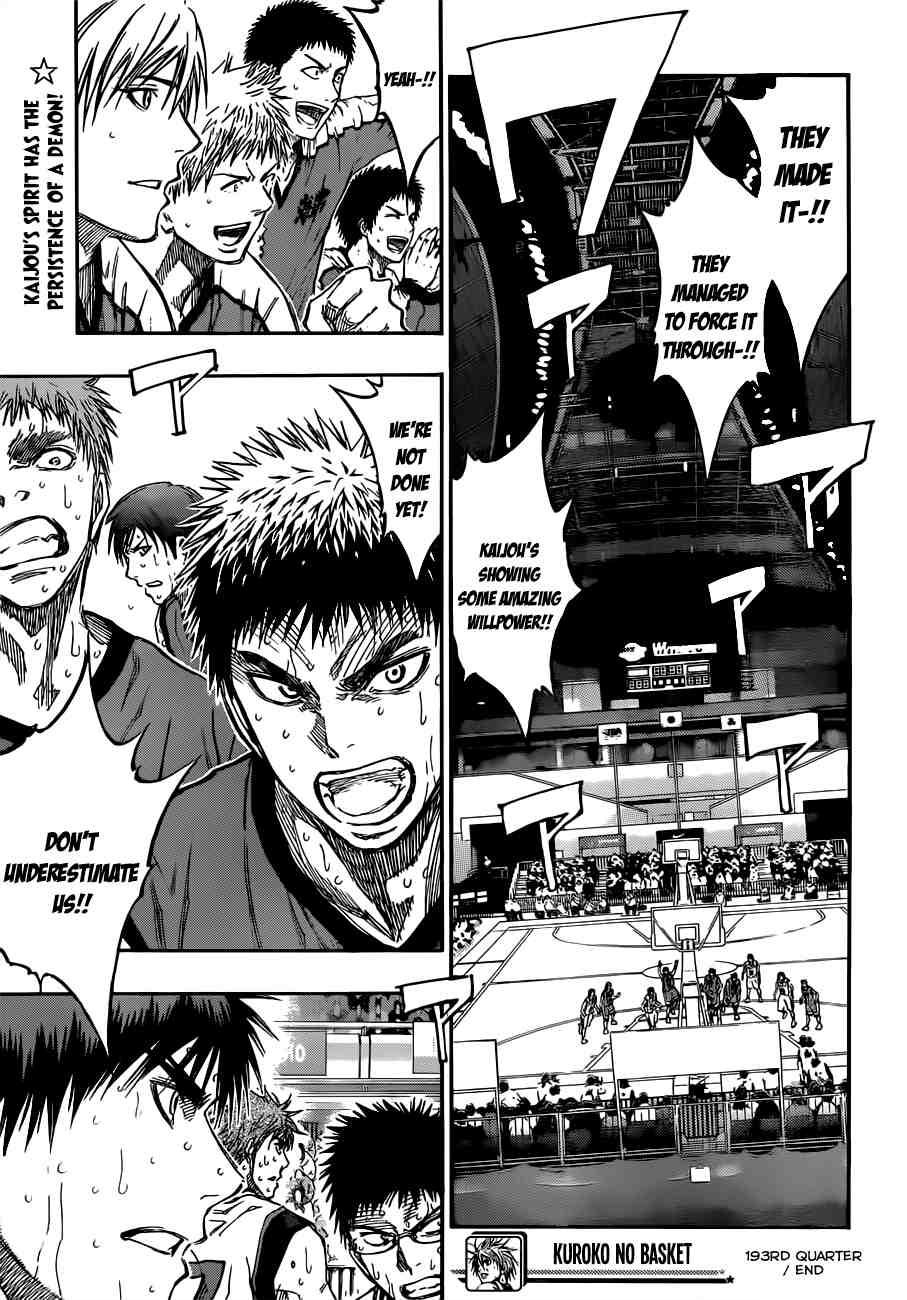 Kuroko no Basket Manga Chapter 193 - Image 19