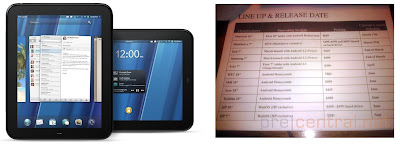 HP TouchPad to be launched at price of $499
