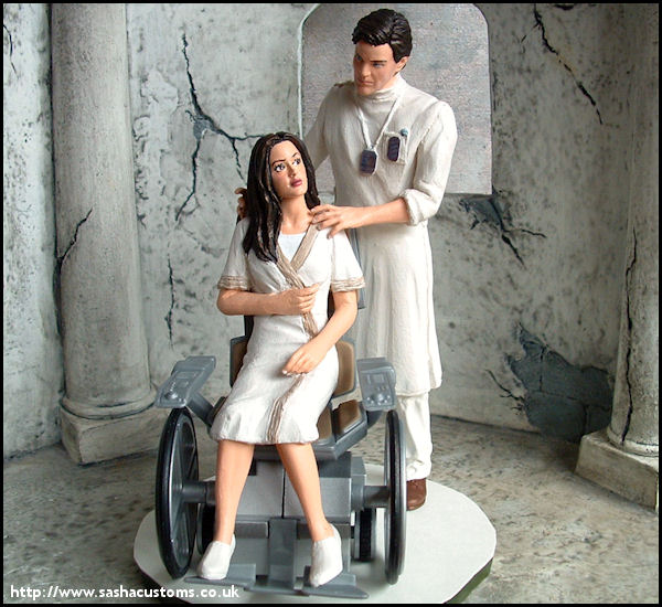 Firefly - Hospital-Heist River and Simon action figures
