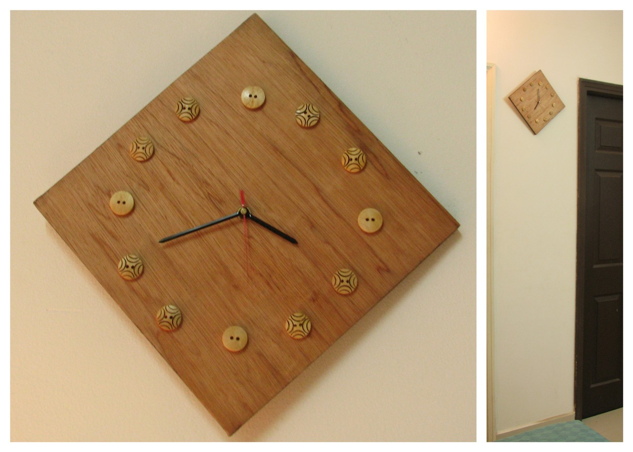 Wooden Wall Clock with template - Indian Woodworking,DIY,Arts,Crafts ...