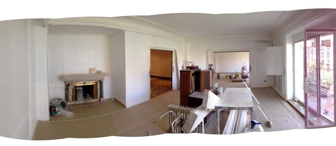 REFORMAS DE DISEÑO MADRID lacar paneles de madera en blanco piso centro madrid proyecto interiorismo decoradores interioristas económico
