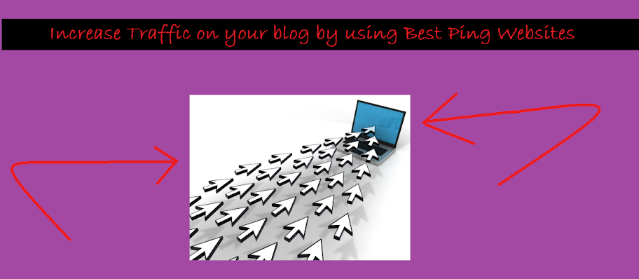 Increase Traffic on your blog by using Best Ping Websites