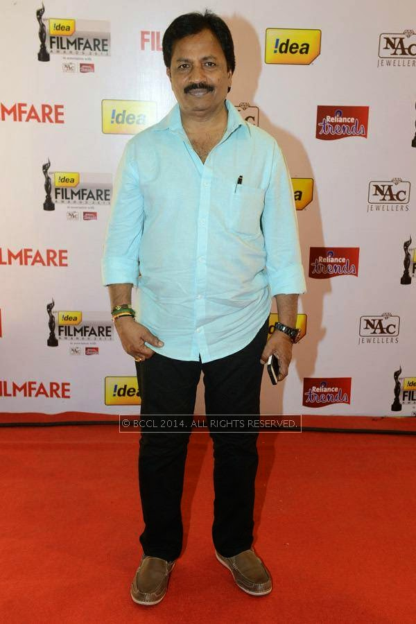 Film producer AM Rathnam during the 61st Idea Filmfare Awards South, held at Jawaharlal Nehru Stadium in Chennai, on July 12, 2014.