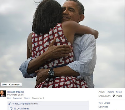 """obama facebook page"""