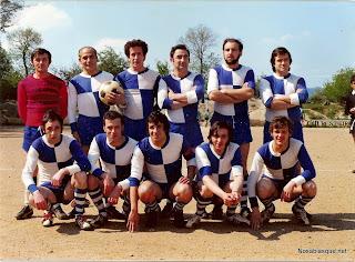 Candelario Salamanca un equipo de Futbol de los años 70