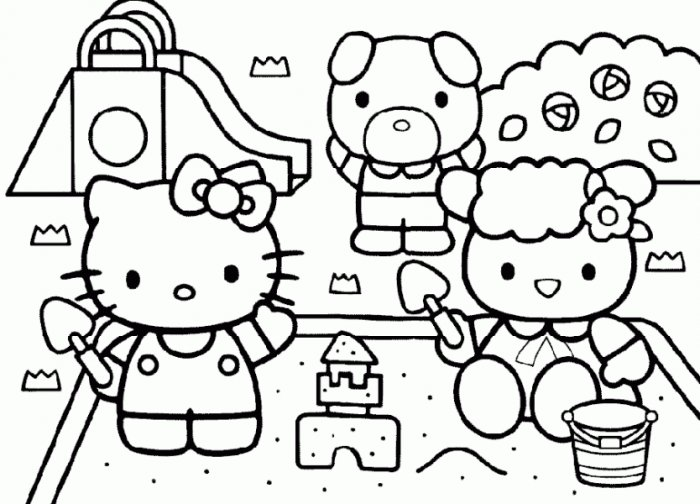 Coloriages a imprimer coloriage hello kitty a imprimer gratuit - Coloriage hello kitty printemps ...