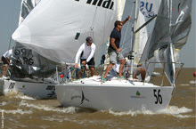 J/24 sailboat- sailing world championship in Argentina