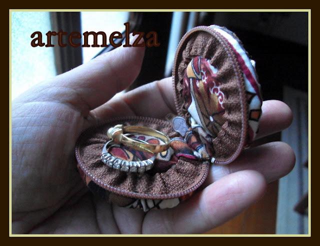 artemelza - porta anel de fuxico