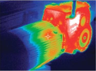 Ảnh nhiệt của một động cơ hoạt động 2