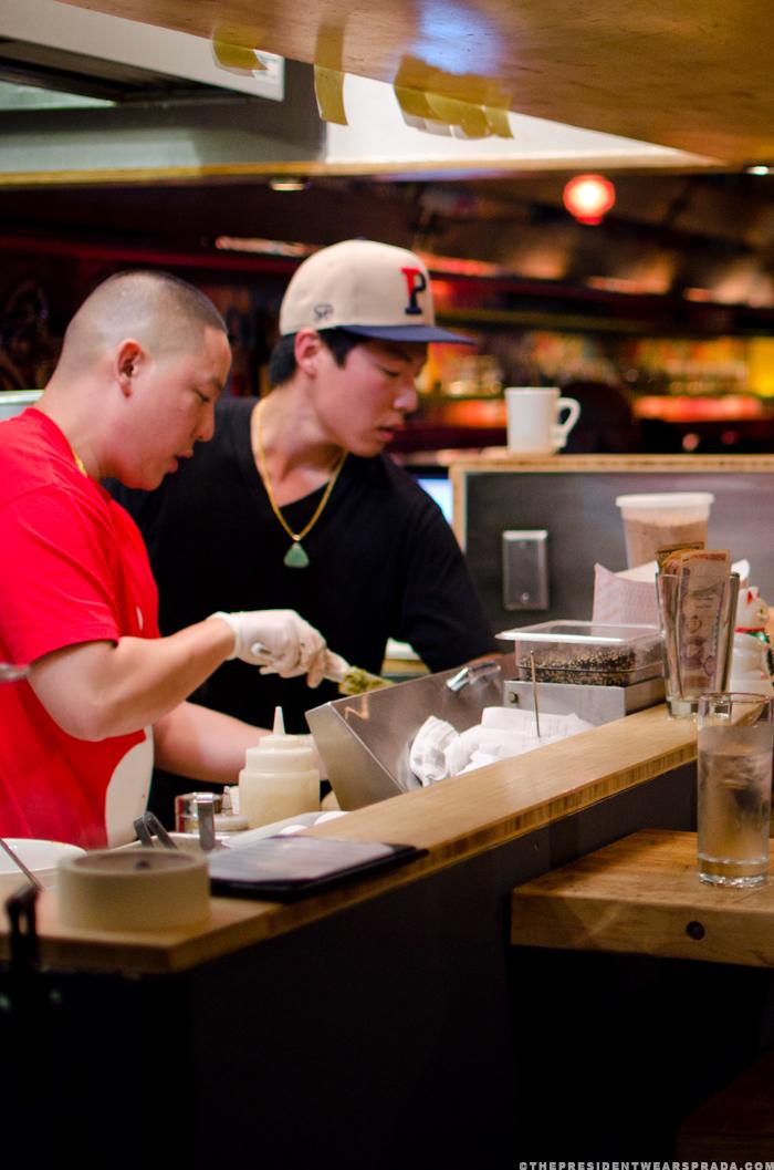 Eddie Huang in the kitchen at Toki Underground