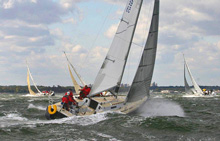 J/105 one-design sailboat- class sailing upwind